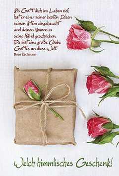 Faltkarte: Welch himmlisches Geschenk! - Neutral