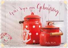 """Postkartenserie """"Rote Kannen - Geburtstag"""" - 12 Stück"""