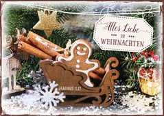 """Postkartenserie """"Weihnachtsschlitten"""" - 12 Stück"""
