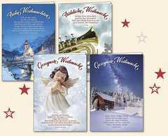 Weihnachts-Faltkartenserie 4 Stück