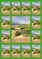 Aufkleber-Gruß-Karten: Hoffnung lässt die Flügel wachsen - 12 Stück