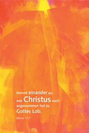 "Leinwand Künstleredition ""Jahreslosung 2015"""