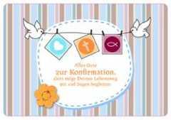 Alles Gute zur Konfirmation - Faltkarte
