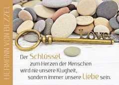 Postkarten: Der Schlüssel zum Herzen, 4 Stück